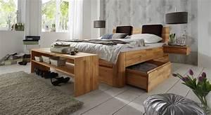 Holzbett Mit Bettkasten 180x200 : massivholz doppelbett mit bettkasten zarbo ~ Bigdaddyawards.com Haus und Dekorationen