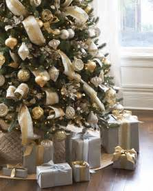 christmas tree decorations gold and silver design decoration