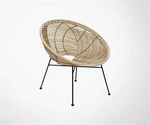 Chaise Rotin Metal : chaise lounge hk living si ge arrondi rotin naturel et ~ Teatrodelosmanantiales.com Idées de Décoration