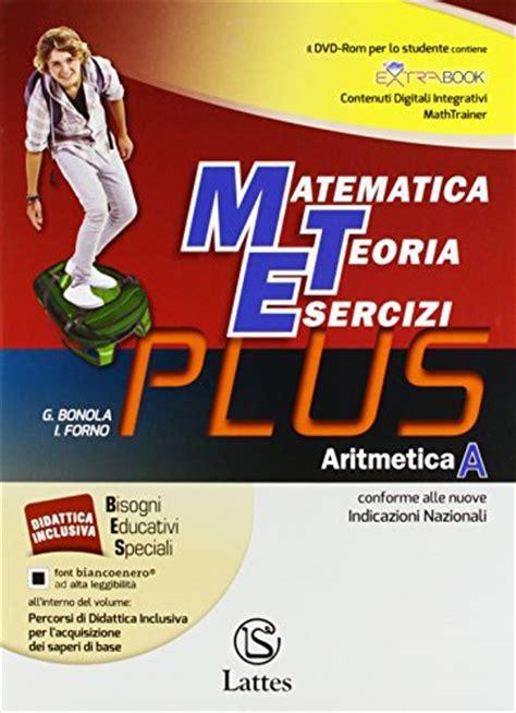 tavole matematica libri pdf ebook matematica teoria esercizi plus