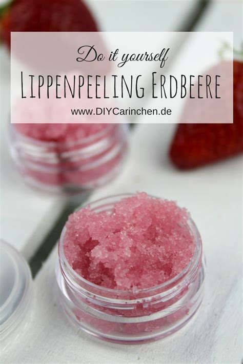 diy lippen zuckerpeeling erdbeer kokos ganz einfach selber