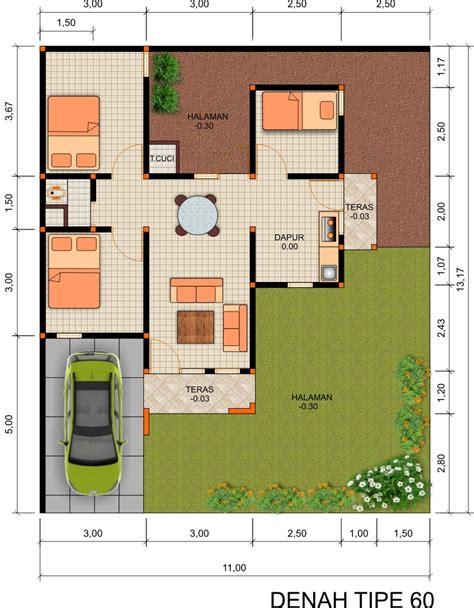 kumpulan desain denah rumah minimalis type  kumpulan