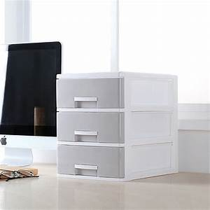 Minimalist, Plastic, Storage, Drawer, Gray, White, Desk, Storage, Drawer, Box, Organizer, Sundries