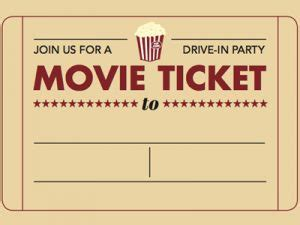 printable  ticket template business card
