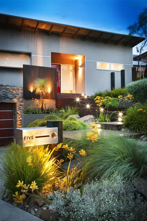 Backyard Of House by 50 Modern Front Yard Designs And Ideas Renoguide