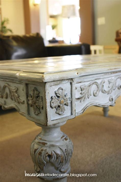 french style coffee table makeover  ascp light wax