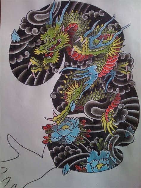 dragon sleeve painting andrew  tattoo