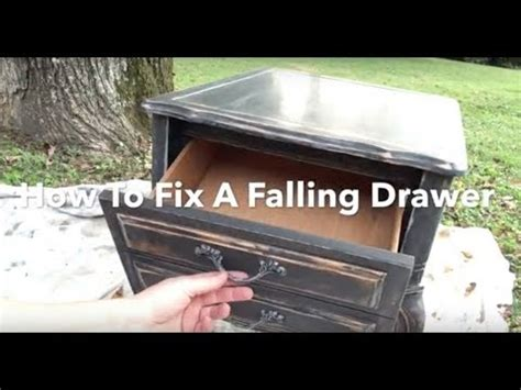 how to fix a drawer diy fix a falling drawer drawer falling out