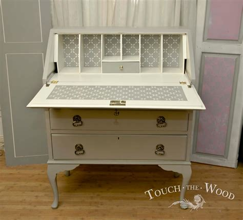 shabby chic furniture stencils shabby chic bureau with stencil no 32 touch the wood