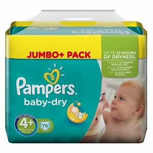 Pampers Pampers Baby Dry Size 4+ Maxi Plus 9-20kg Jumbo ...