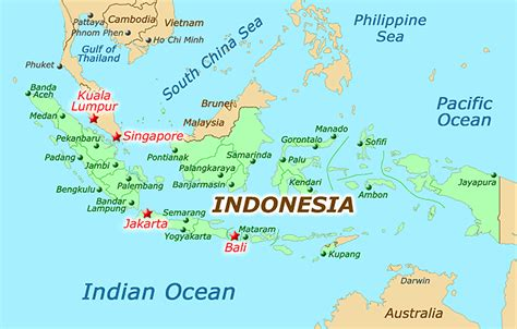 indonesia map jakarta