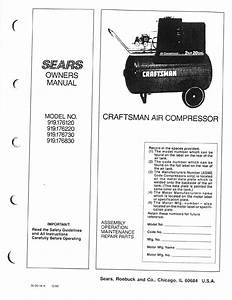 Craftsman Air Compressor 919 User Guide