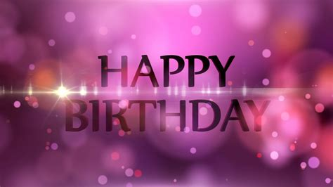 happy birthday motion graphics background light and