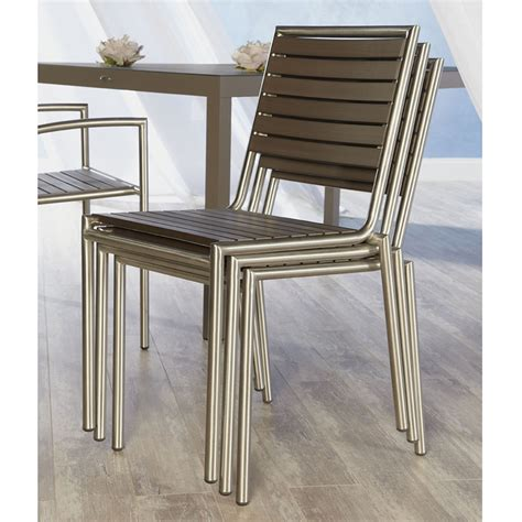 the niko outdoor side chair is a cool contemporary outdoor