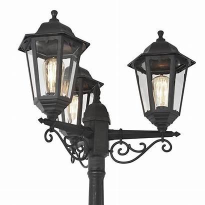 Lantern Lamp Pole Lighting Tall Triple Coastal