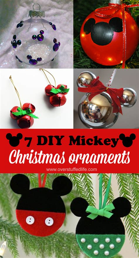 diy mickey mouse christmas ornaments overstuffed