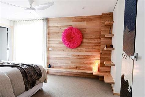Loft Bedroom Feature Wall by Timber Feature Wall In Bedroom Bedroom