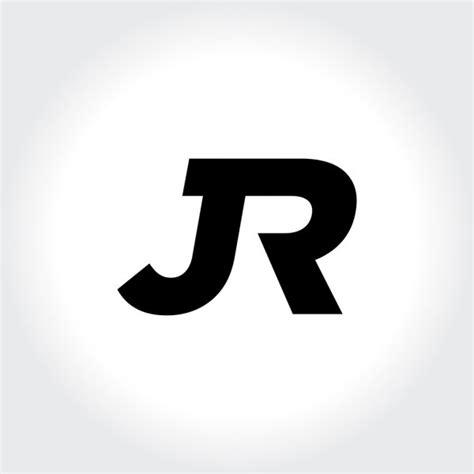 jr initial monogram circle logo stock vector  srirejeki