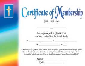Free Printable Church Membership Certificates