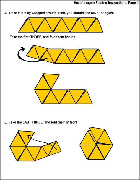 Hexaflexagon Template Custom Hexaflexagon Folding 4 Keuzetaak