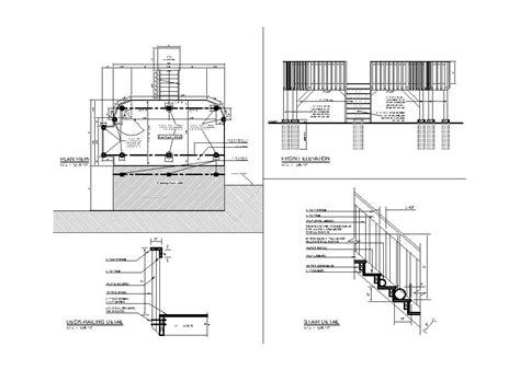 wood deck design cad files dwg files plans  details