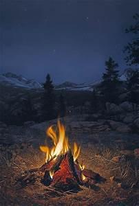 """A Mountain Campfire"" by Stephen Lyman | Flootie.com ..."