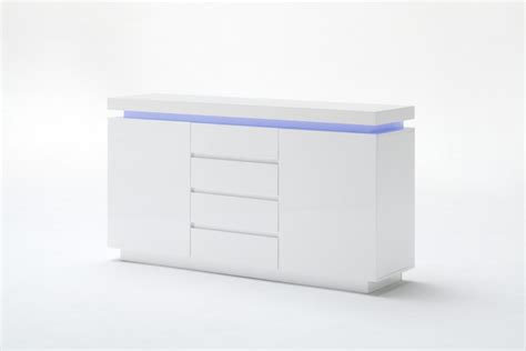 sideboard mit led sideboard wei 223 hochglanz lackiert moderne anrichte mit
