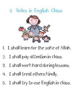 Classroom Rules for English Class
