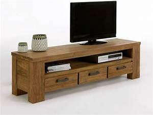 Meubles En Bois Massif : meuble tv bois massif nestis ~ Melissatoandfro.com Idées de Décoration