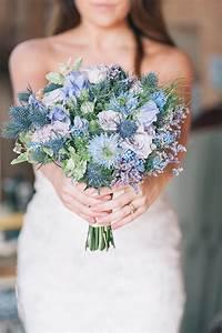 Fresh New Blue Wedding Bouquets We Adore