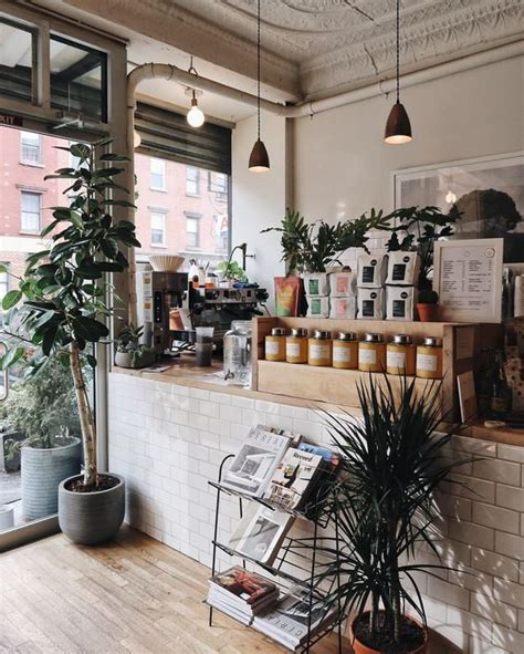 Embrace it or revile it, it is undeniable that instagram has changed the face of the restaurant industry. A place for plant lovers. Instagram   Small coffee shop, Coffee shop design, Coffee shop aesthetic