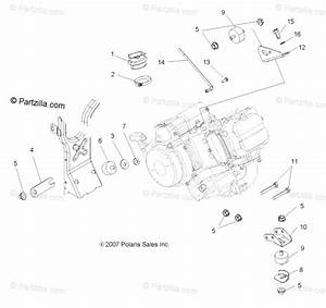 Polaris Atv 2008 Oem Parts Diagram For Engine Mounting