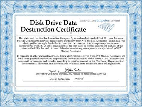 innovative computer systems destroy  hard drives