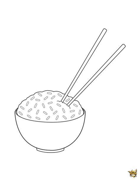 jeux de cuisine fr bol de riz est un coloriage de plats à imprimer