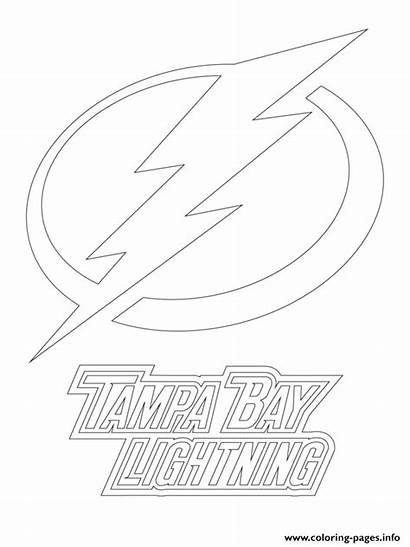 Tampa Lightning Bay Coloring Nhl Hockey Pages