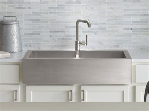top mount apron front kitchen sink vault top mount stainless steel apron front this is my 9484
