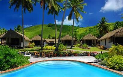 Fiji Beach Island Wallpapers Nature Bungalows Dream