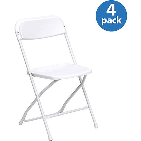 White Folding Chairs At Walmart by Hercules Series Premium Plastic Folding Chair White Set