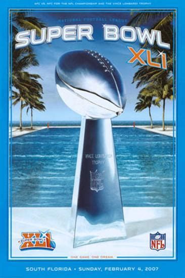 Xli Super Bowl Posters At