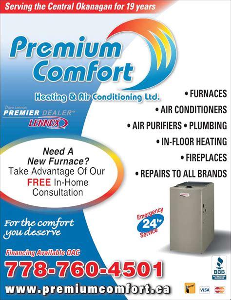 comfort heating and cooling premium comfort heating air conditioning ltd kelowna