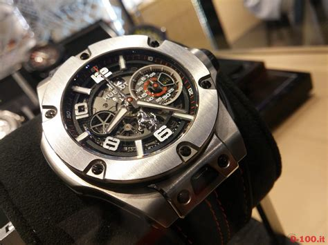 It is a limited edition of 1,000 pieces, priced at $32,100. Hublot Big Bang Ferrari Titanio Limited Edition Ref. 402.NX.0123.WR - 0-100.it