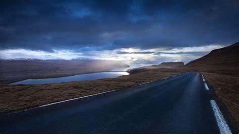 faroe, Islands, Evening, Landscape, Road, Lake, Sea, Ocean ...