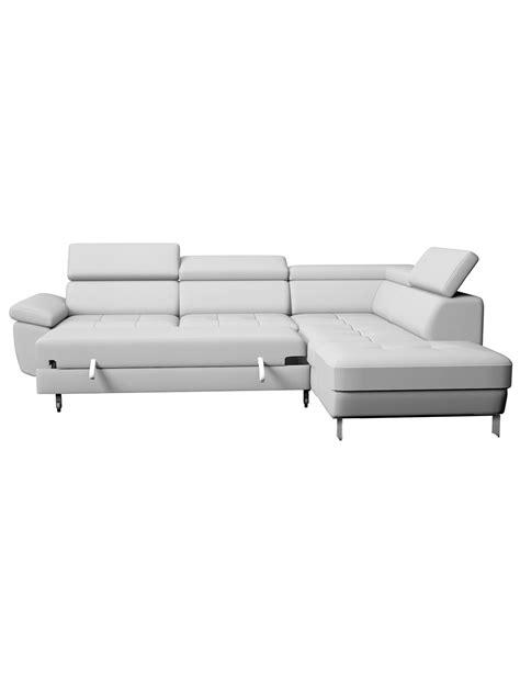 transport canapé canapé lit d 39 angle kate blanc