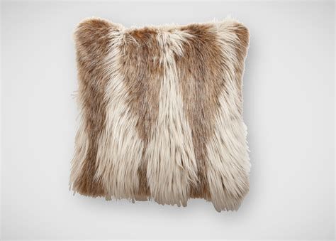 faux fur pillow lynx faux fur pillow pillows