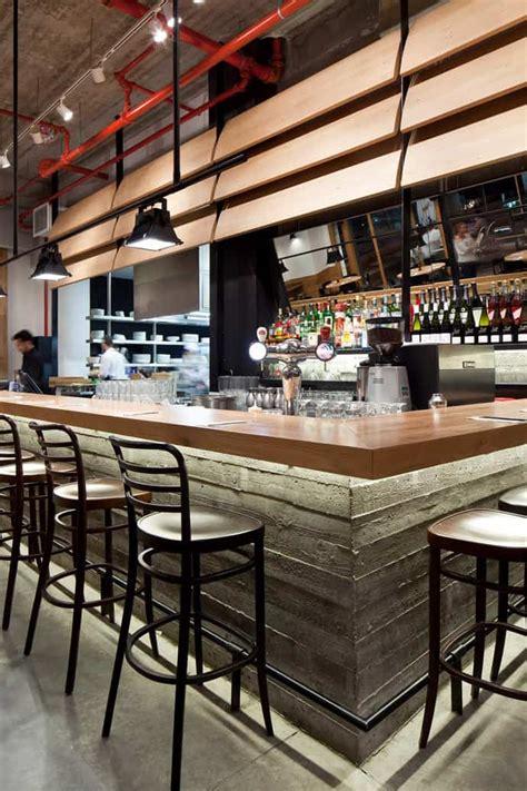 restaurant industrial bar concrete wood cafe giraffe tel aviv outdoor designrulz commercial interior bars modern lounge pub decor comments counter