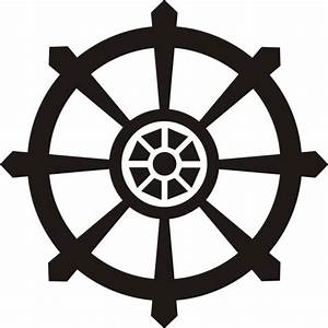 SMALL DHARMA WHEEL WALL DECAL STICKER BUDDHA BRAHMAN HINDU