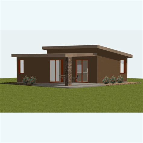 Lovely Small Contemporary Home Plans #15 Small Modern