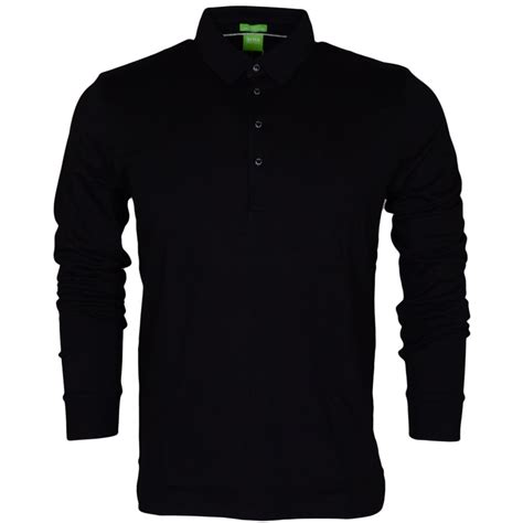 hugo black paderna 30 sleeve modern fit black polo hugo black from n22 menswear uk