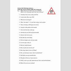 English Tenses  Correction Of Mistakes