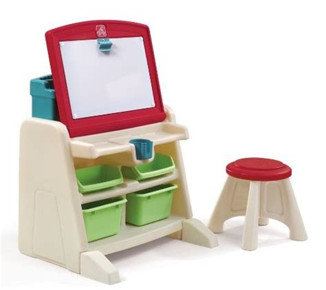 flip and doodle easel desk amazon step2 flip and doodle desk with stool easel only